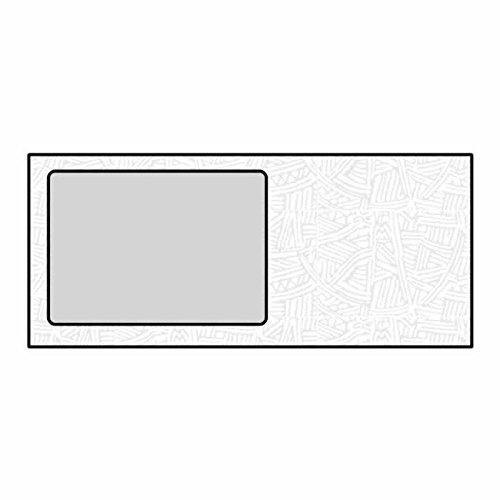 #10 All Purpose Poly Window Envelopes, 4-1/8'' x 9-1/2'', 24#, White, Side Seams, Black Wesco Inside Tint (Box of 500)