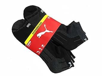 Puma Mens Low Cut 6-Pair All Sport Extended Size Socks (13-15, Charcoal/Black)
