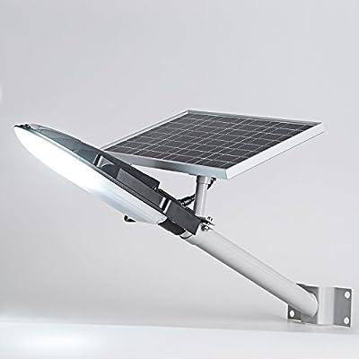 SHANGBOYI Solar Street Light LED Outdoor , 15W Waterproof IP65 750 Lumens Professional Grade Street Solar Lighting for Street Gutter Patio Garden Path (Black)