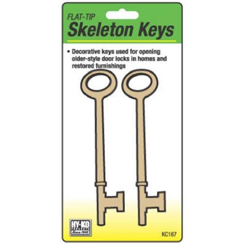 HY-KO PROD Office Storage Accessory 2 Pack Flt Skeleton Keys (KC167)
