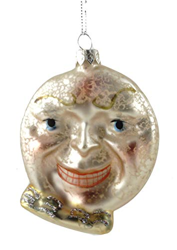 Cody Foster & Co Victorian Moon with Face Glass Hanging ()