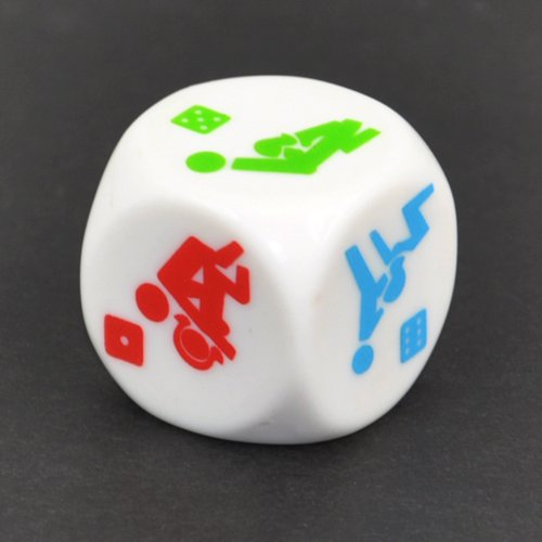 Topro 25mm Novelty Fun Sexy Dice for Lovers Bachelor Adult Party Game Gift