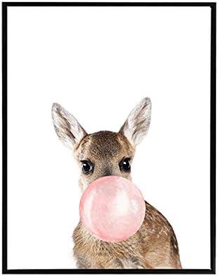 senza cornice 30x40cm No Frame Pittura su tela per bambini giraffa poster per soggiorno senza cornice decorazione con animali H cavallo palloncino