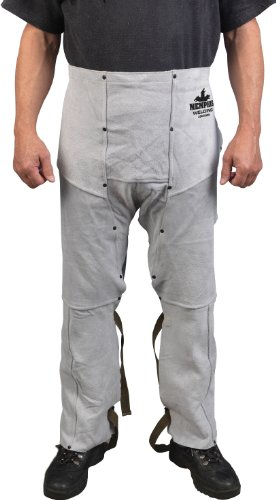 MCR Safety 38600MW 38 by 24-Inch Memphis Split Cow Leather Welding Chaps, Gray