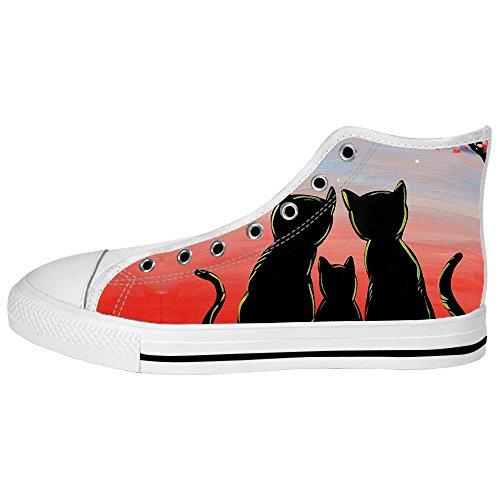 Custom Gatto del fumetto Womens Canvas shoes I lacci delle scarpe scarpe scarpe da ginnastica Alto tetto Tarifa Barata De Envío Bajo Fechas De Lanzamiento Precio Barato R0qkMnM