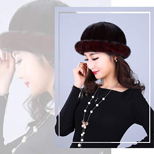 Invierno Mongol Gorra Otoño Cúpula Negro Sombrero Cálida E Ante Mujer De qEwYHF