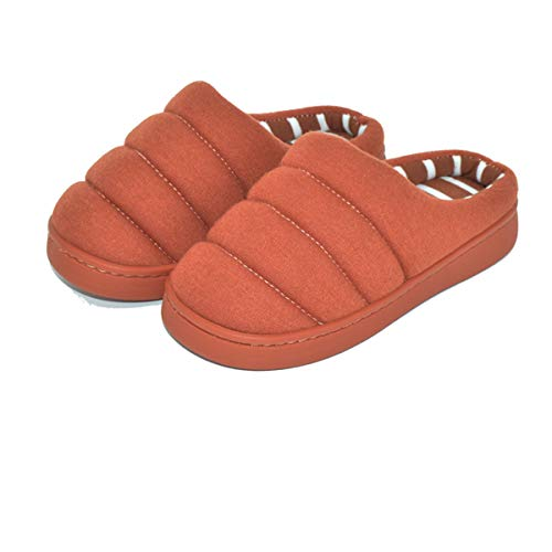Toddler Girls Boys Slipper Shoes For Kids Warm Winter Bedroom Indoor House Slipper (13 M US Little Kid, B-Brick Red Without Elastic Band)