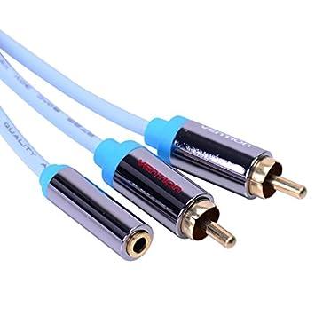 Vention 3,5 mm jack hembra a macho cable de extensión 2 conector RCA divisor