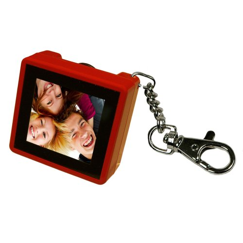 Digital Foci PAO-150 1.5-Inch Pocket Album OLED Keychain Digital Photo Viewer (Ruby Red) ()