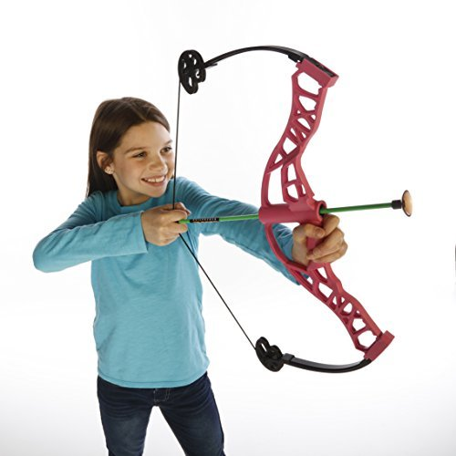 Pink Nitro Blazer Compound Bow Kit by NXT Generation - Accurate Bowhunting Target Practice and Play for Kids - Unisex - Comes with Three Suction Cup Arrows - For Lefties and Righties for Kids 8 and up