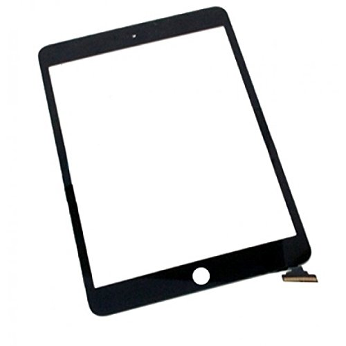 Mimi Replacement Screen for Black iPad Mini Touch Screen Digitizer IC Chip Home Button and Flex Cable Assembly (Mini I Pad Screen Replacement)