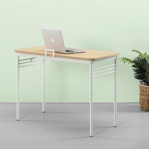 Zinus Retro Metal Framed Desk in Cream by Zinus