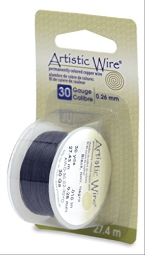 Beadalon Artistic, 30 Gauge, Black Color, 30 yd (27.4 m) Craft Wire