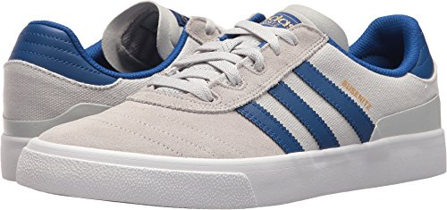 adidas Originals Herren Busenitz Vulc Fashion Sneaker Hellgrau Heather Solid Grey / Collegiate Royal / Schuhe Weiß