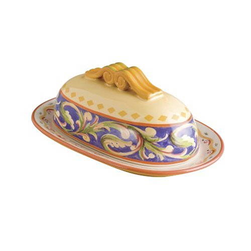 - Pfaltzgraff Villa della Luna Covered Butter Dish