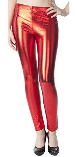 Women's Metallic Silked Leggings 41GPBm6wNpL