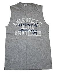 American Athl Dept Mens Sleeveless Shirt (Small, Grey)