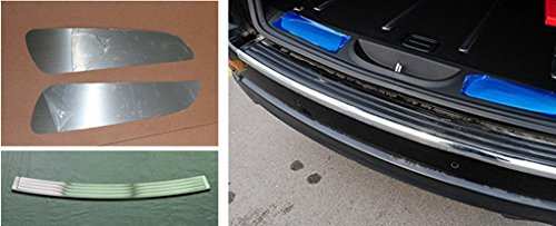 Nicebee 3 PC Stainless Steel Rear Trunk Step Panel Boot Sill Plate Covers Kits for Jeep Grand Cherokee 2011-2016 (Grand Cherokee Door Panels)
