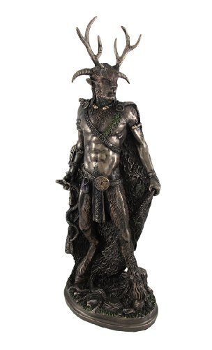 Bronze Celtic God Cernunnos Statue Standing by Things2Die4