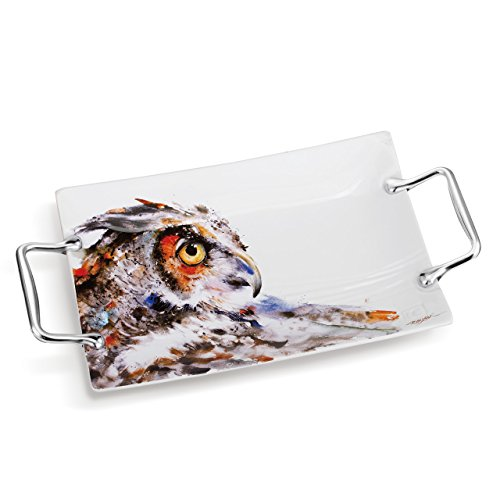 Dean Crouser Collection Looking Back Owl 12'' Platter by Dean Crouser Collection