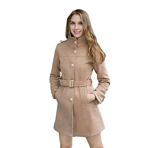 Zeagoo Women Winter Slim Long Sleeve Jacket Lady's Warm Coat Outwear Parka Trench