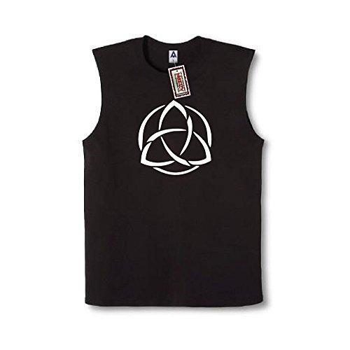 Trinity Celtic Knot #5 Cross Irish Christian Sleeveless Shirt Religious Black Muscle Tee XL