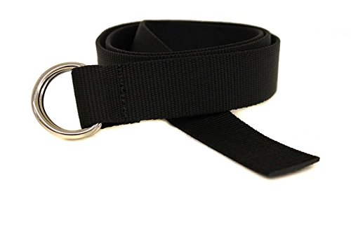 D-Ring Canvas Web Sailing Belt Made in USA by Thomas Bates - Classic D-ring Belt