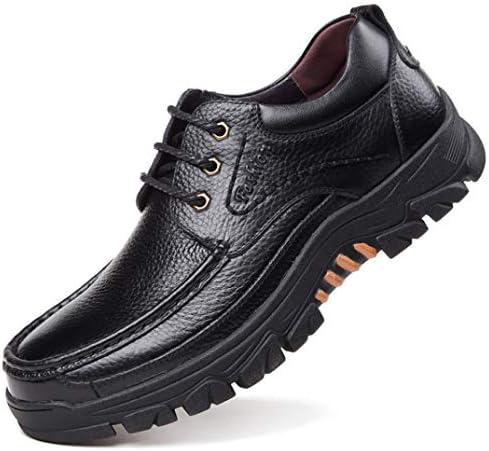 メンズ ハイキングシューズ レースアップ 滑り止め 防水 幅広 アウトドア ビジネスシューズ トレッキング カジュアル 登山靴 旅行用 クッションインソール 抗菌 通気 耐震 ワーキングシューズ 紳士靴