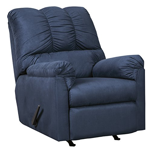 Ashley Furniture Signature Design - Darcy Contemporary Rocker Recliner Chair - Manual Reclining - Blue