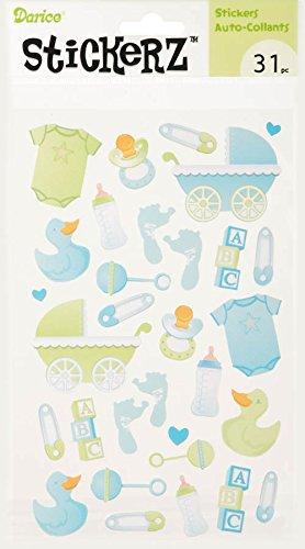 Darice 31 Piece Baby Boy Sticker Collection