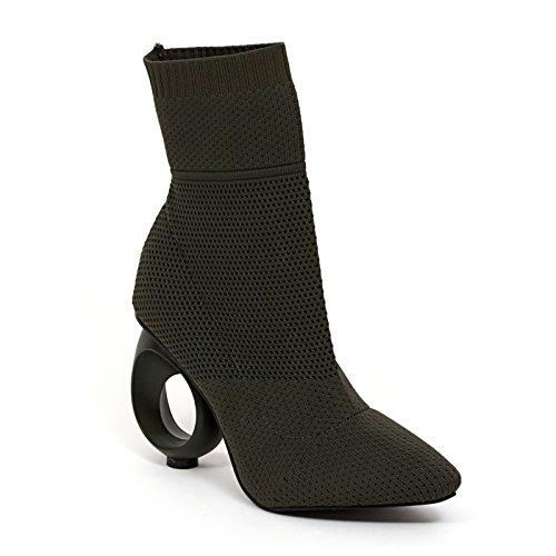 Lady Couture Chausson Tricoté Sur Talon Circulaire Ninty Union Chaussures Femme Par Beyonce Olive