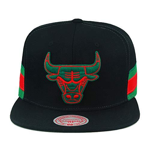 Mitchell & Ness Chicago Bulls NBA Snapback Hat Cap Black/Green/Red