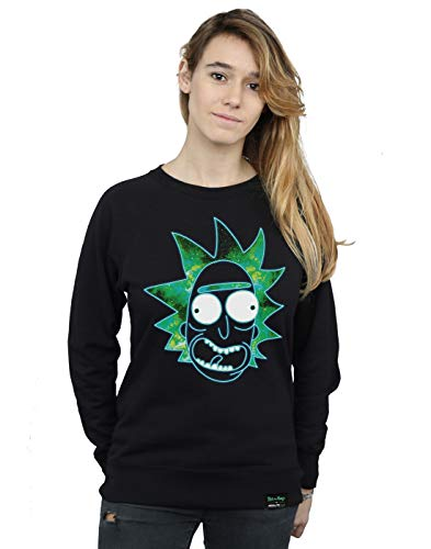 Morty Cult Noir Femme Sweat Absolute Infill shirt And Rick's Rick Head 1wqxWWUfZT