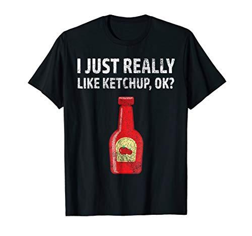 (I Like Ketchup Tshirt Funny BBQ Tomato Sauce Lovers Gift)