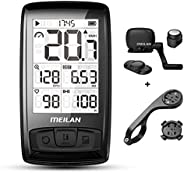 MEILAN Blade(M4) Wireless Bike Computer Cycling Computer with Backlight Speed Cadence Sensor Included Bluetoot