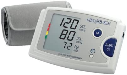 LifeSource Upper Arm Blood Pressure Monitor with Pre-Formed Cuff UA-787EJ