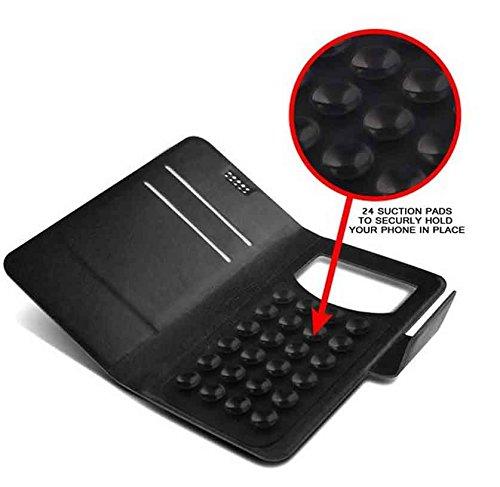 Pour Alcatel Flash Plus Portefeuille et étui de protection à ventouses en cuir PU très fin de très grande qualité avec stylet et Écouteurs intra-auriculaires - Blanc/White - par Gadget Giant®
