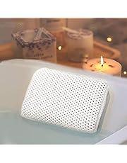 HANKEY Badkuipkussen, bad- en spa-hoofdsteun met 8 zuignappen, nekkussen, badkussen voor badkuip, zacht en comfortabel, waterdicht en anti-schimmel, geurbestendig, compact en hoog comfort