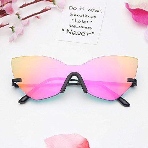 Cat Eye Moda Gafas Espejo Bastidor Sol De De Estilo Black Mujer TIANLIANG04 Mujer Sol De Gafas Red Rosa Oro 87qnpwYO