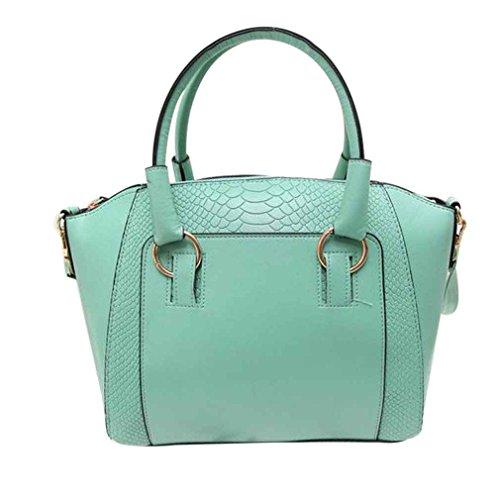 Republe Patrón del cocodrilo de Crossbody del bolso de mensajero de las mujeres Paquete mujeres de gran capacidad bolsillo monedero del hombro verde