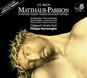 Bach: Matthaus-Passion (St Matthew Passion) BWV 244 /Bostridge * Selig * Rubens * Scholl * Gura * Henschel * Collegium Vocale * Herreweghe (+CD-Rom) by Harmonia Mundi