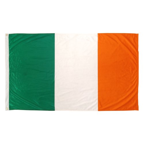 US Flag Store Super Knit Polyester Ireland Flag, 3-Feet by 5-Feet
