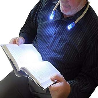 schwarz LED-Buchleuchte U-Form-Halsleuchte F/ür Neuheit H/ände Frei Leseleuchte Nachtlicht