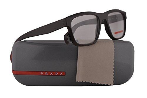 Prada PS07GV Eyeglasses 53-18-140 Brown Rubber w/Demo Clear