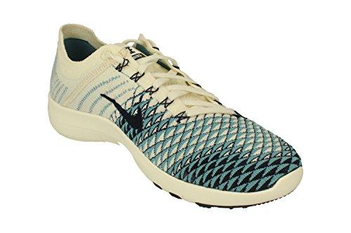Nike Womens Free Tr Flyknit 2 Scarpe Da Corsa In Nylon Nero / Bianco // Bianco