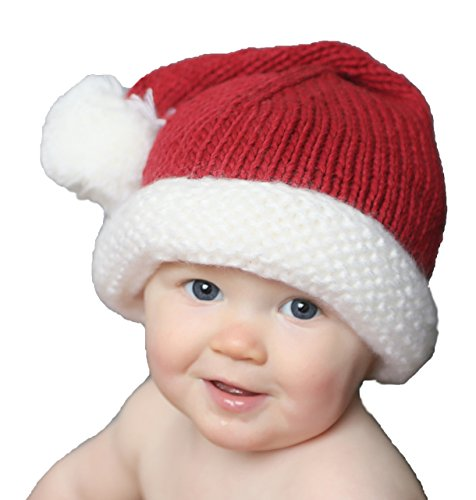 Huggalugs Snowy Santa Baby Toddler or Adult Stocking Hat S Red