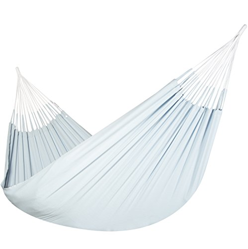 Jumbo Colombian Hammock – Double 63 x 95 inches – Natural Cotton Cloth Powder Blue