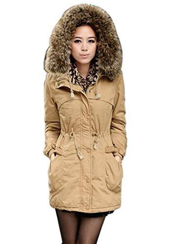 Cappotti Invernali Khaki Donna Modern Anteriori Addensare Manica Cintura Pelle Solidi Di Cappuccio Button Con Colori Lunga Stile Giacca Tasche Giovane Inclusa Mantello dnW1xS