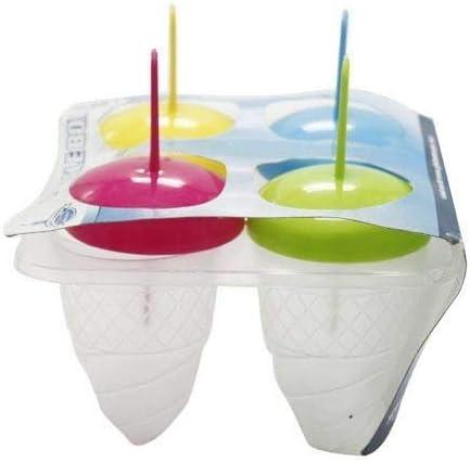 4 Section Swirl Ice Pop Maker Mold Popsicle Dessert Cream Frozen Pops Treats