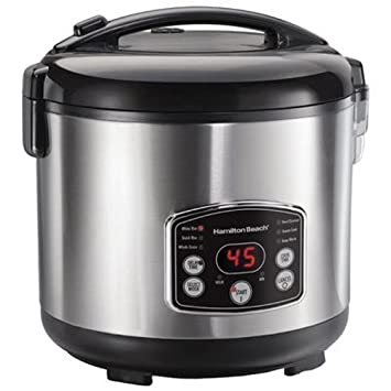 Hamilton Beach Rice Hot Cereal Cooker, 7-Cups uncooked resulting in 14-Cups Cooked , 37549